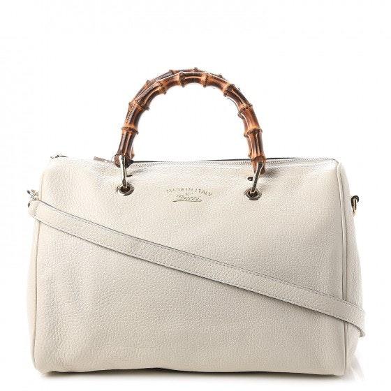 Gucci Bamboo Shopper Boston Medium Mystic White