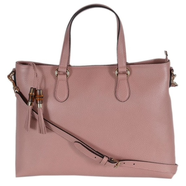 Gucci Bamboo Tassel Tote Large Dusty Pink