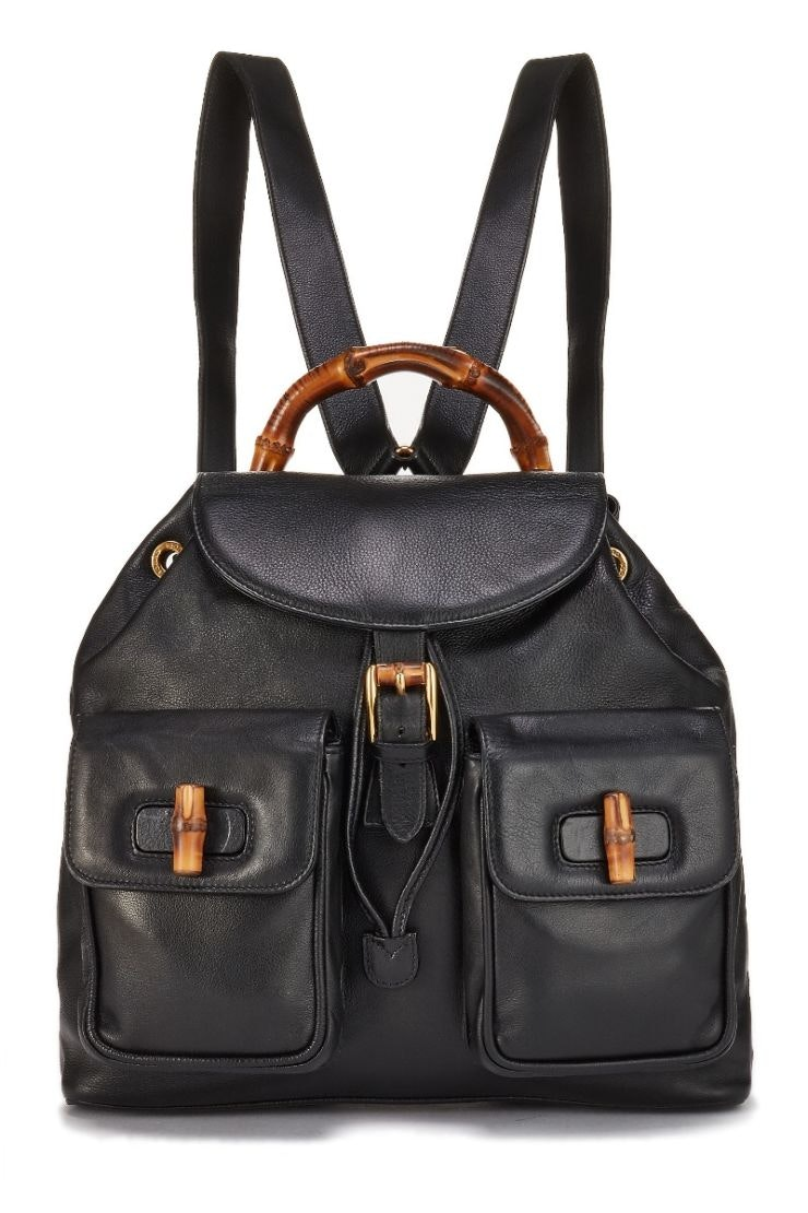 Gucci Bamboo Turnlock Backpack Large Black