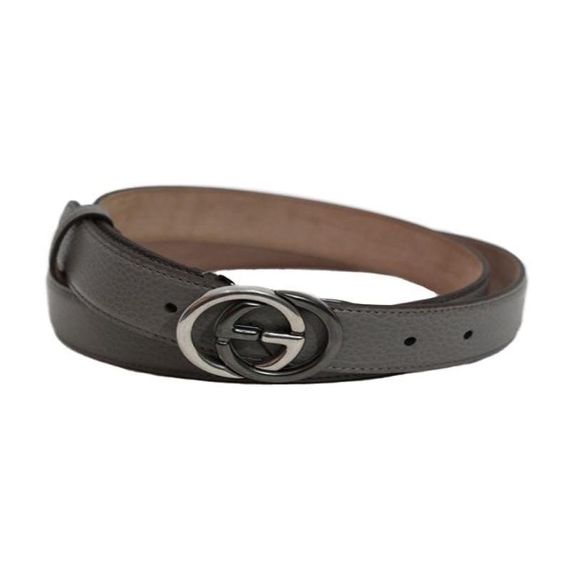 Gucci Belt 1.25 Width Dark Grey