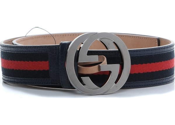 7464c5bfd Gucci Interlocking G Belt Web Navy Blue/Red