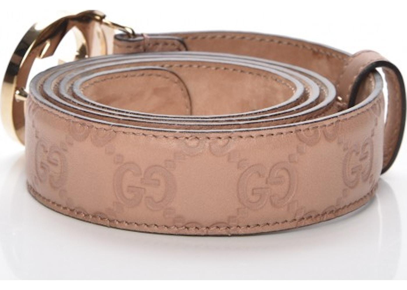 3c4e8f374 Gucci Interlocking G Belt 90 Monogram Guccissima 36 Winter Rose