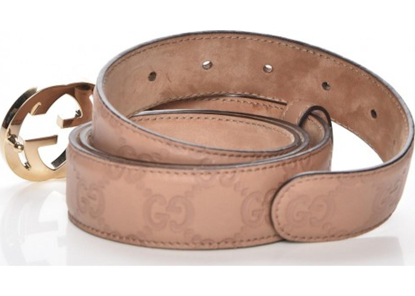 f6e1203e9 Gucci Interlocking G Belt Monogram Guccissima Winter Rose