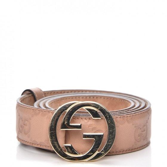 Gucci Interlocking G Belt Monogram Guccissima Winter Rose