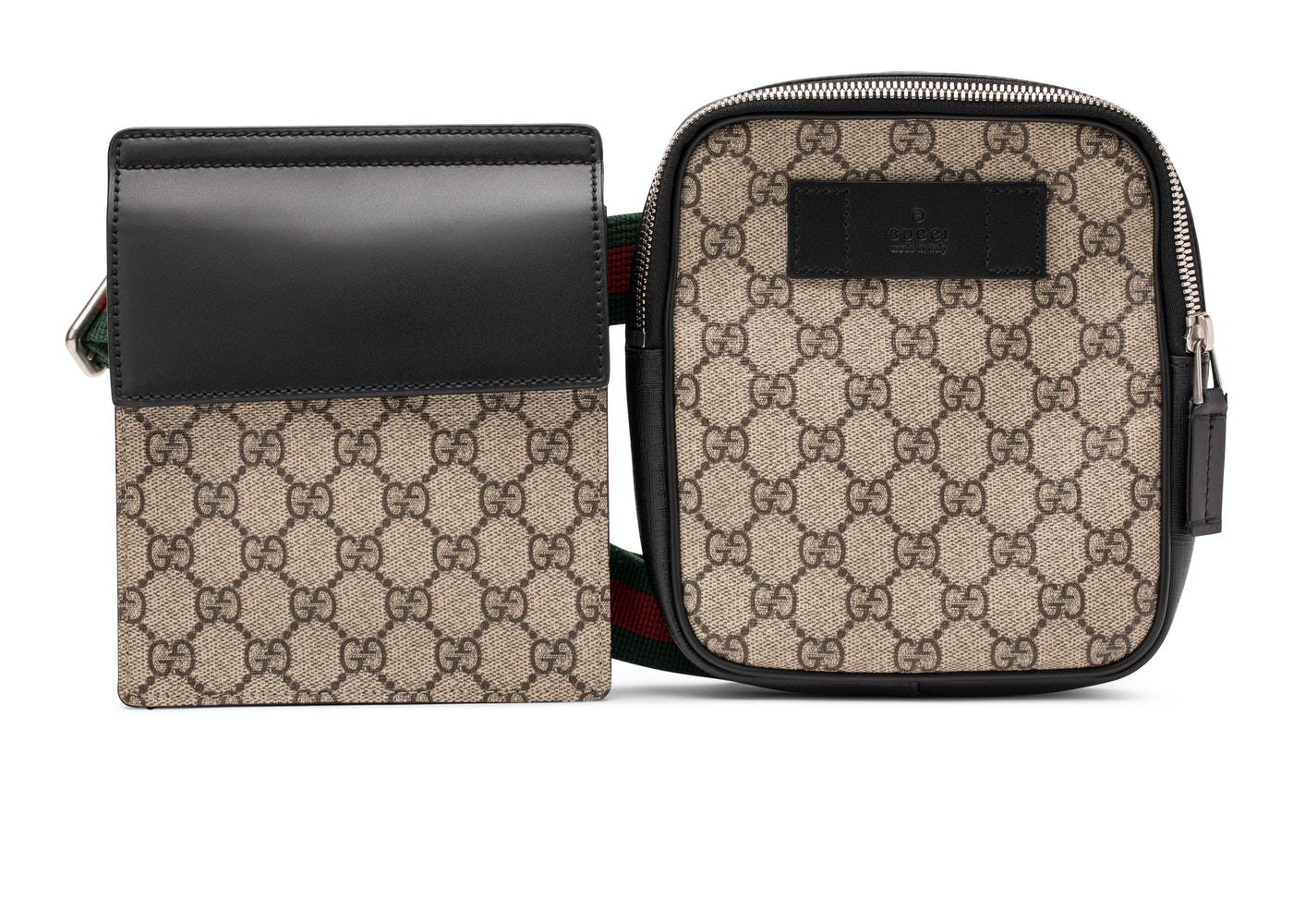 996ae3253 Gucci Belt Bag GG Supreme Web Waist Strap Black/Beige
