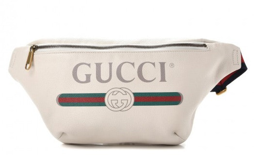Gucci Belt Bag Gucci Print Grained White