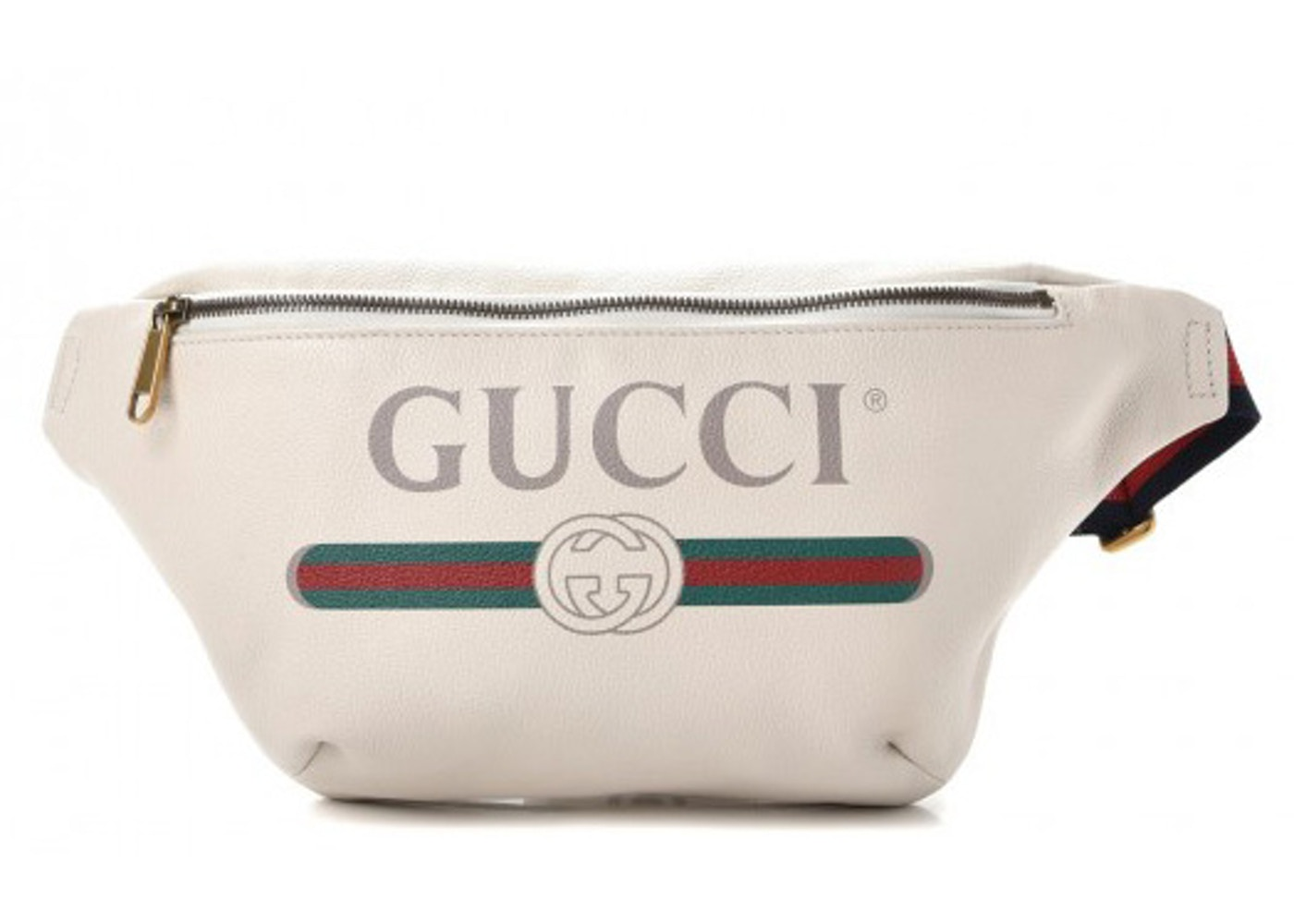 Gucci Belt Bag Print Grained White