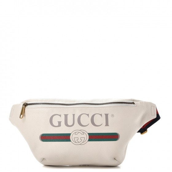 Gucci Belt Bag Gucci Print Grained White