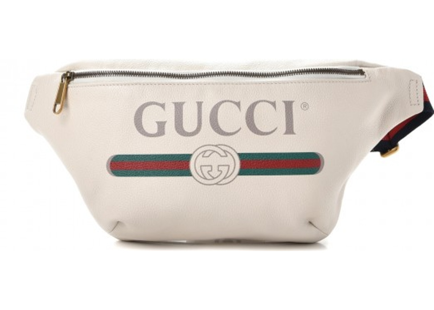 90dbe5184 Gucci Belt Bag Gucci Print Grained White