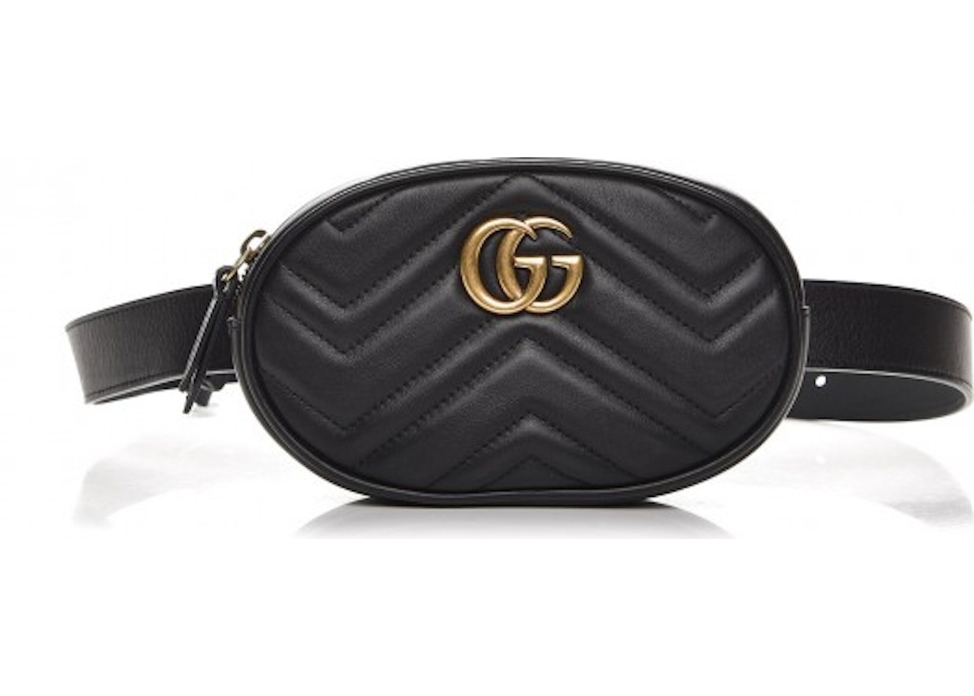 191ccf1df13 Gucci Marmont Belt Bag Matelasse GG 85 Black. Matelasse GG 85 Black
