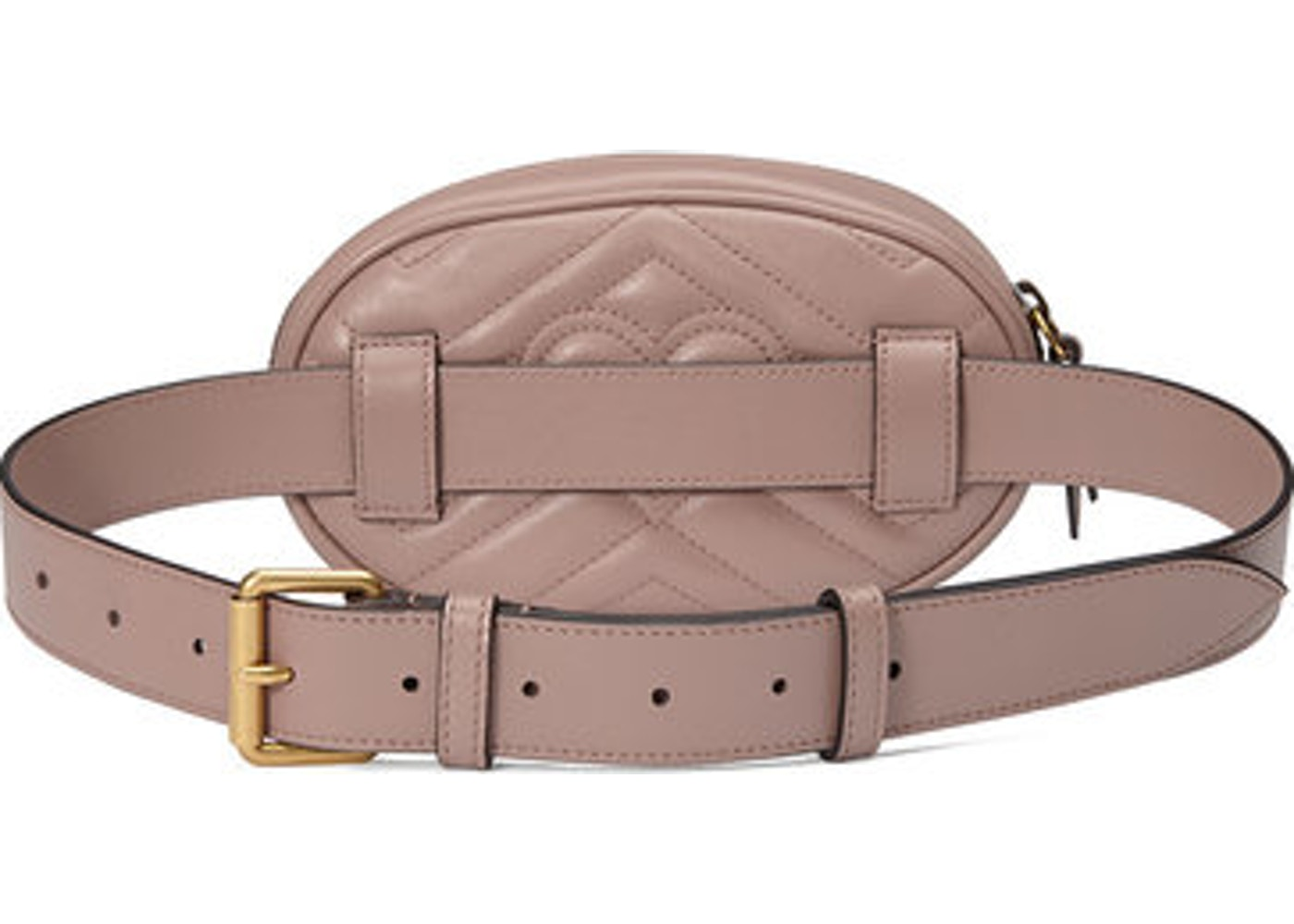 0970b1431f7 Gucci Marmont Belt Bag Matelasse GG Dusty Pink