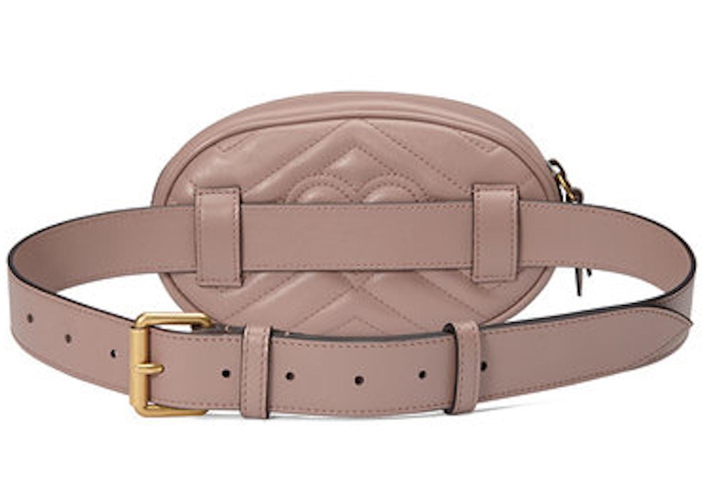 Gucci GG Marmont Belt Bag Matelasse Dusty Pink