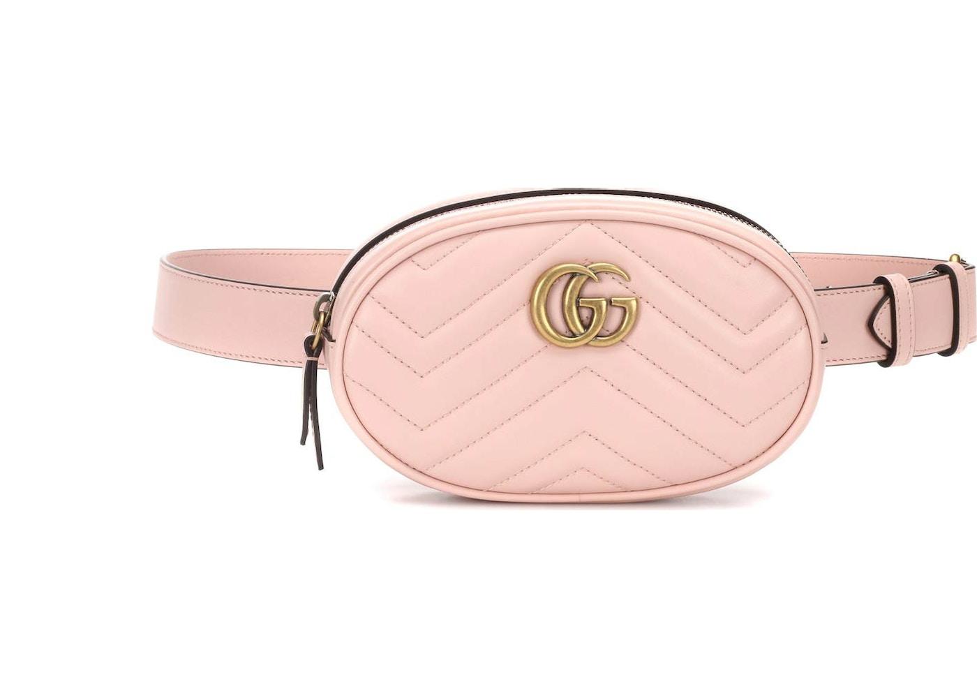 d13cf21cc Gucci Marmont Belt Bag Matelasse GG Rosa. Matelasse GG Rosa