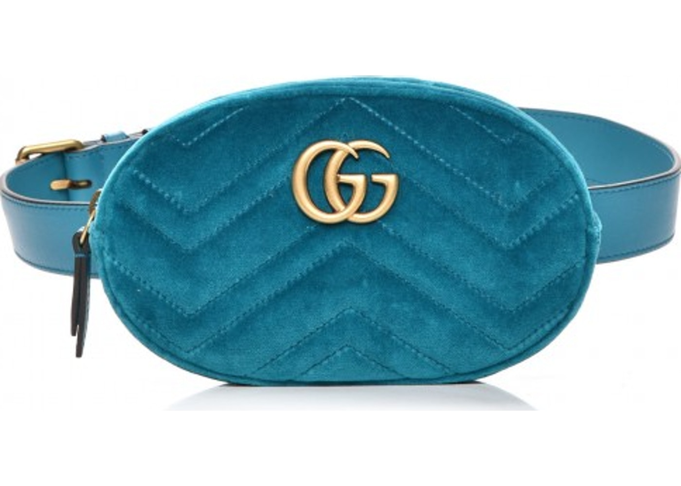 8f830ba0460 Gucci Marmont Belt Bag Matelasse Blue. Matelasse Blue