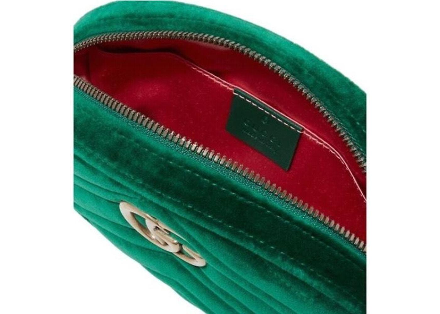 b602b3851c5 Gucci Marmont Belt Bag Matelasse Green