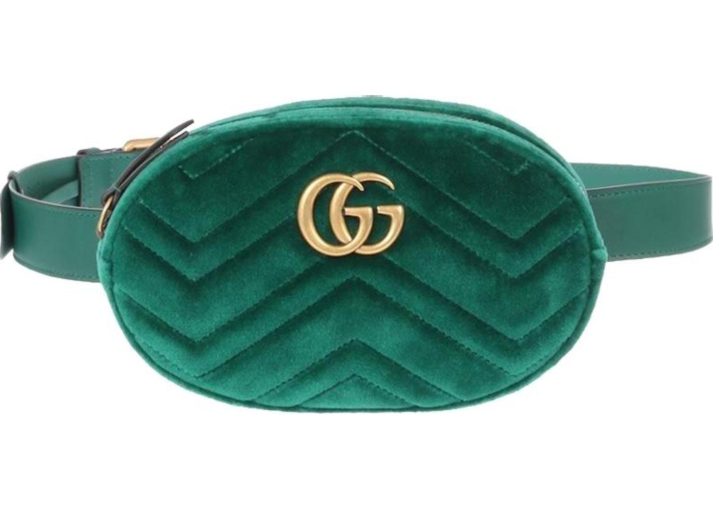 594c51a97aaae Gucci Marmont Belt Bag Matelasse Green