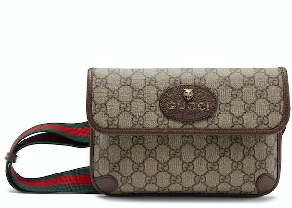 333020ce Gucci Belt Bag Neo Vintage Monogram GG Supreme Web Brown
