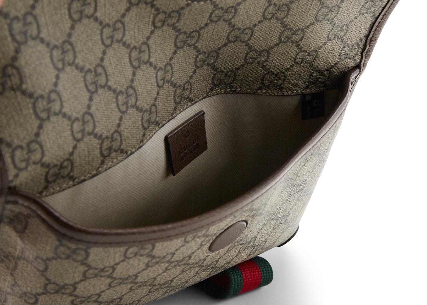 25c639a31 Gucci Belt Bag Neo Vintage Monogram GG Supreme Web Brown