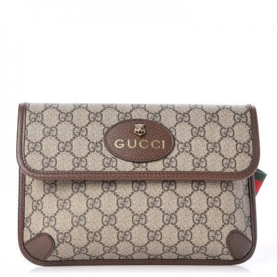 Gucci Belt Bag Neo Vintage Monogram GG Supreme Web Brown