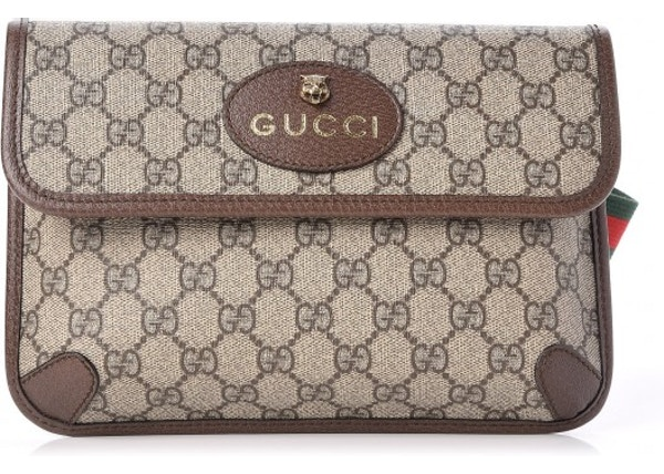 b8818182c6f8 Gucci Belt Bag Neo Vintage Monogram GG Supreme Web Brown