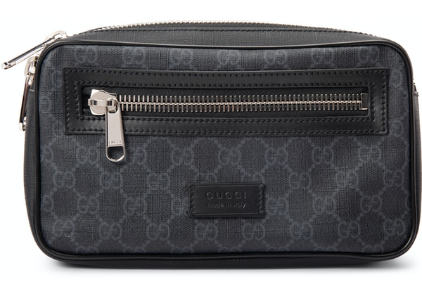 a21a4127de4 Gucci Belt Bag Soft GG Supreme Web Strap Black Red