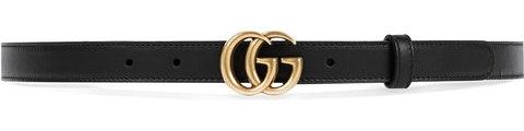 Gucci Belt Double G Buckle 65-26 Black