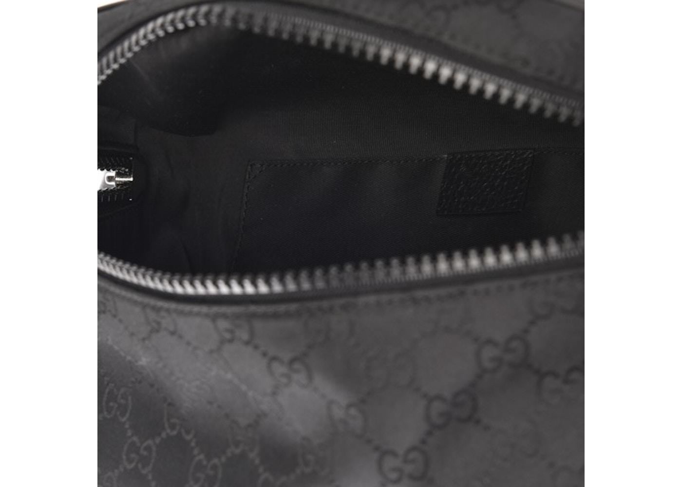 9bcc24558c14 Gucci Fanny Pack Belt Bag Monogram GG Black