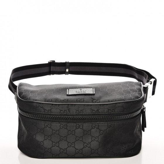 Gucci Fanny Pack Belt Bag Monogram GG Black