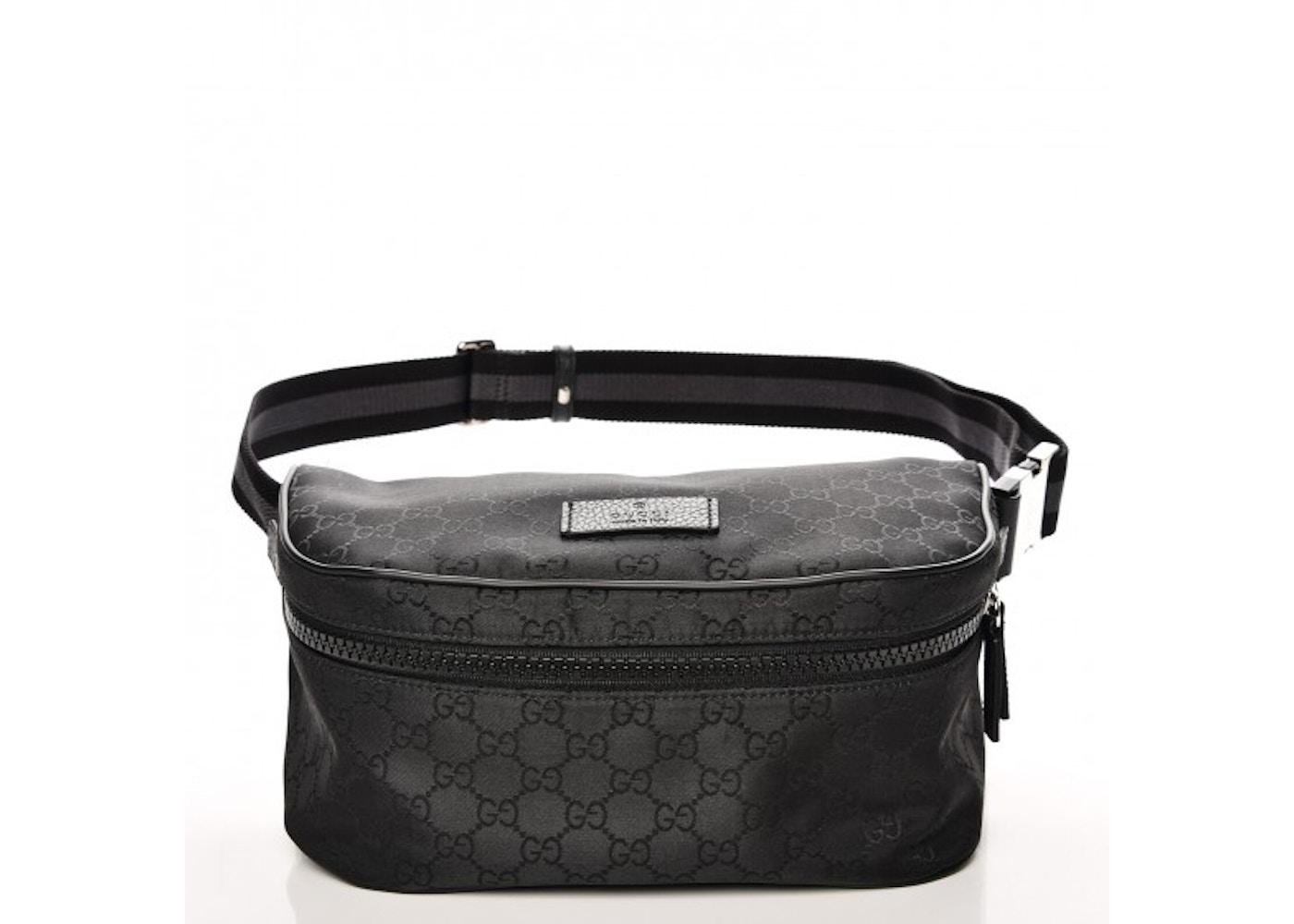 8c70a9806b8 Gucci Fanny Pack Belt Bag Monogram GG Black