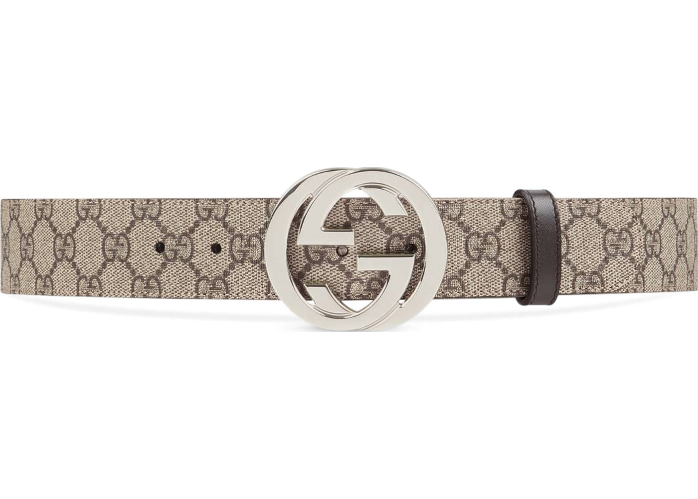 41c686e80 Gucci Belt GG Supreme Interlocking G Buckle 1.5W Beige Ebony/Cocoa