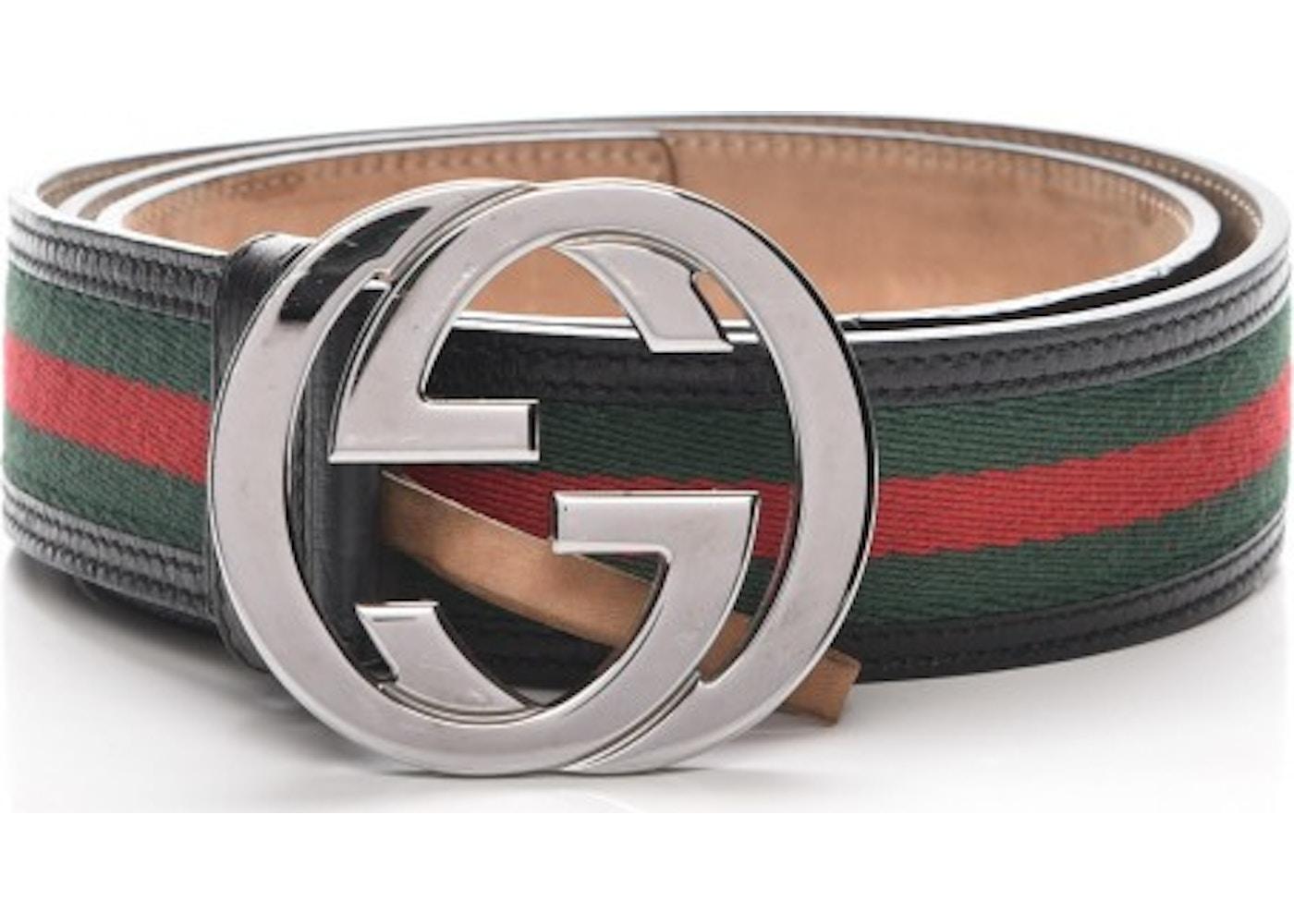 b6e6940bb905 Gucci Interlocking G Belt Monogram Web 100 40 Black/Green/Red. Monogram Web  100 40 Black/Green/Red