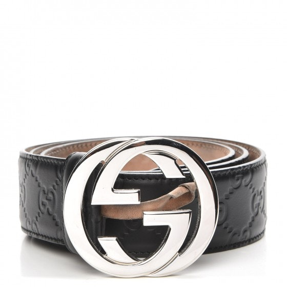 Gucci Interlocking G Belt Monogram Guccissima Black