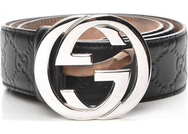 b7b5bb3f28b0 Gucci Interlocking G Belt Monogram Guccissima Black