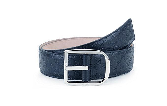Gucci Belt MicroGuccissima 1.5 Width Navy
