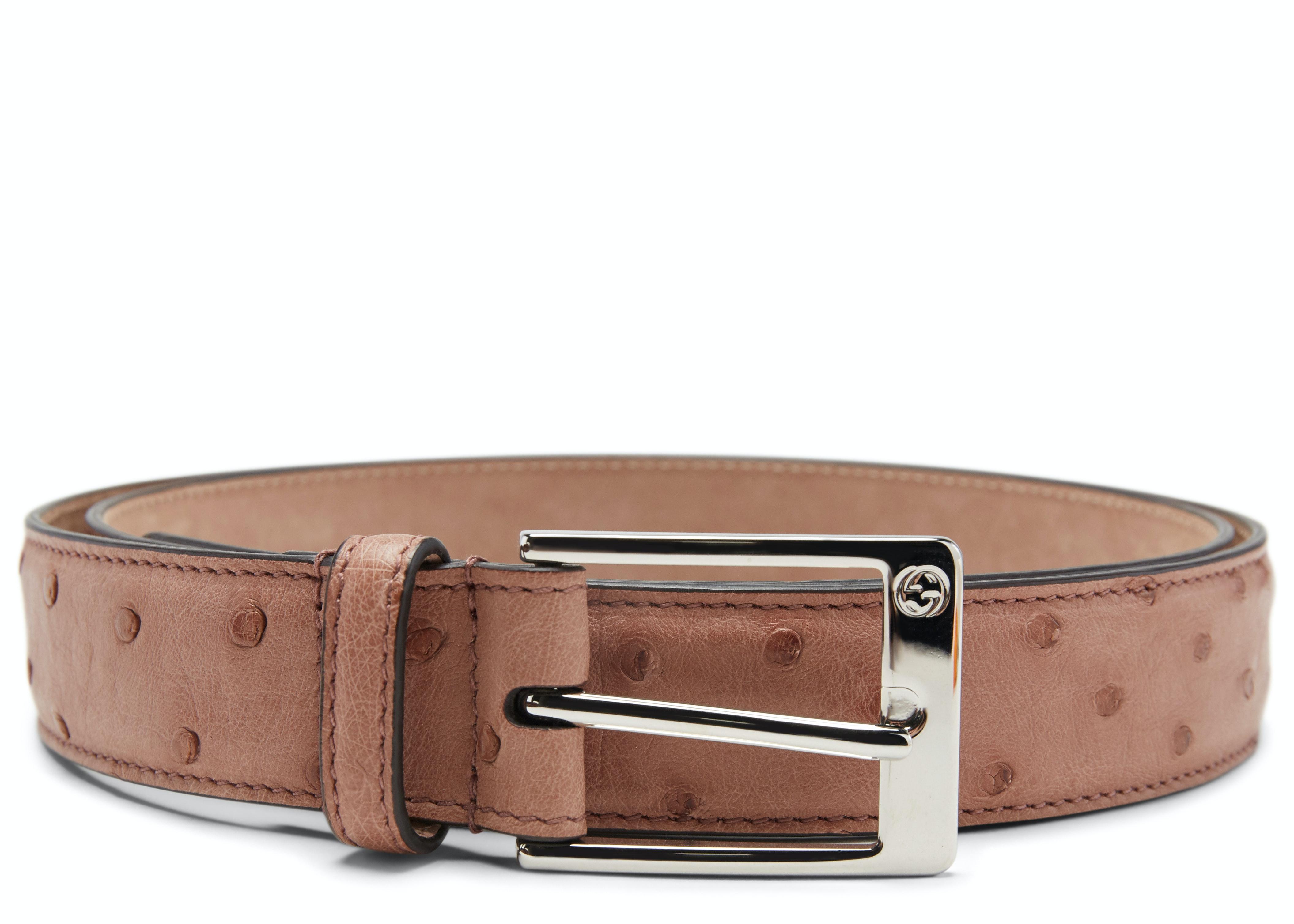 Gucci Belt Ostrich Light Pink