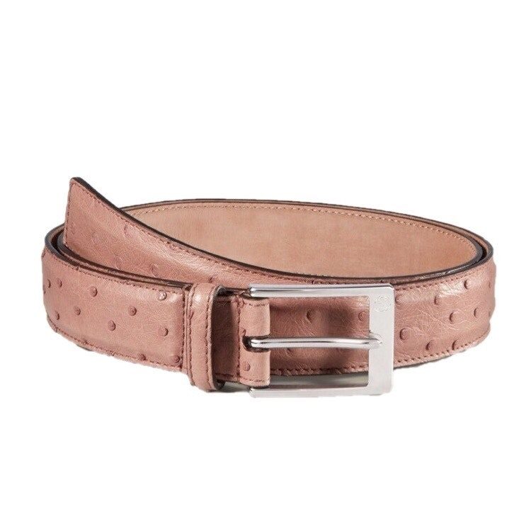 Gucci Belt Ostrich Light Pink