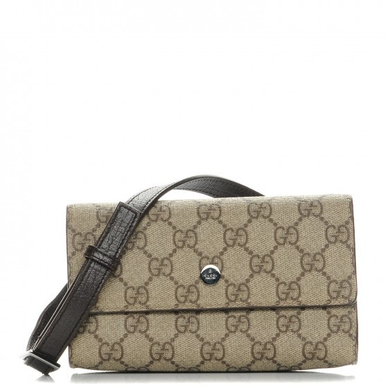 Gucci Belt Pouch GG Plus Brown