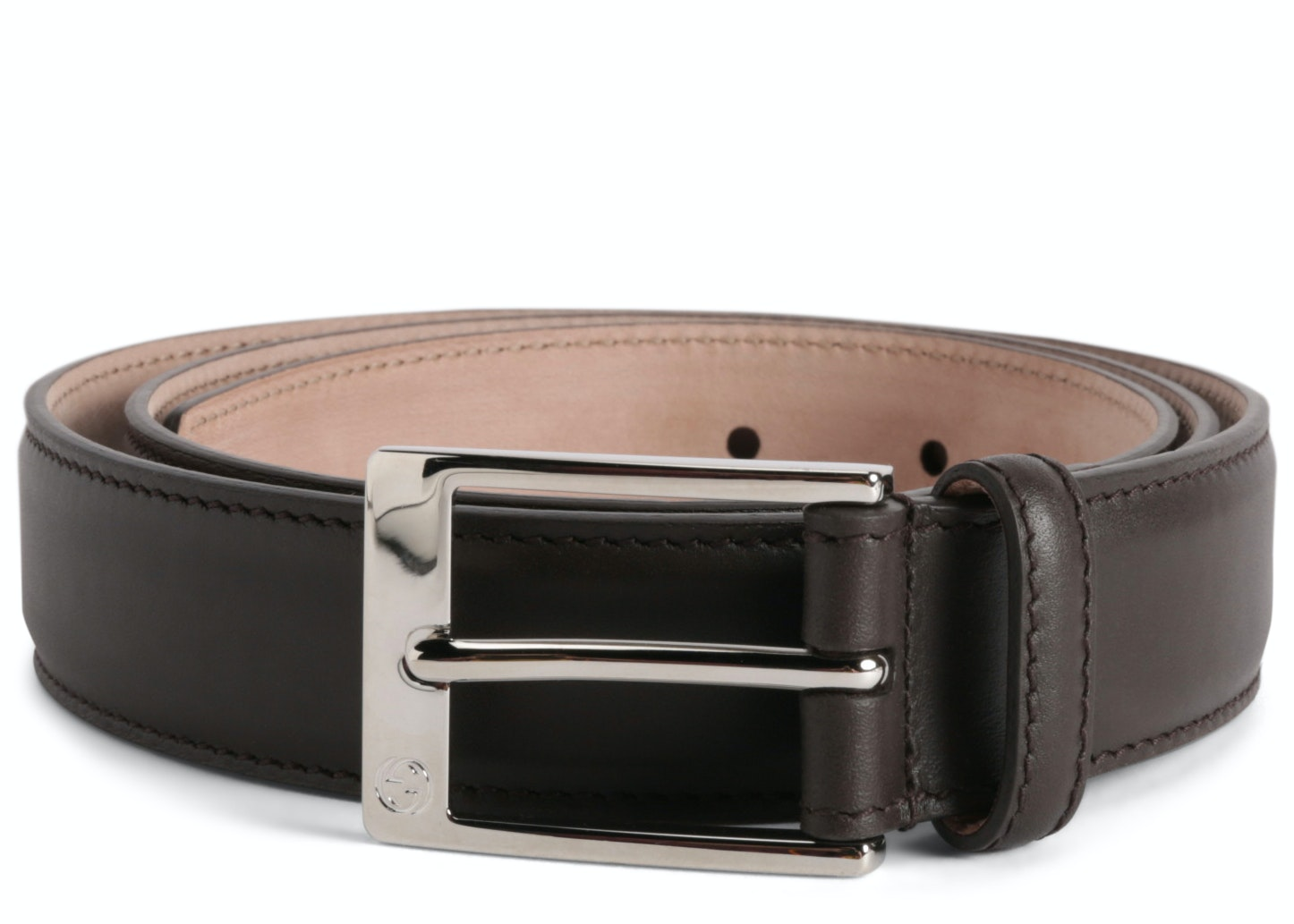 Gucci Belt Square Buckle Brown