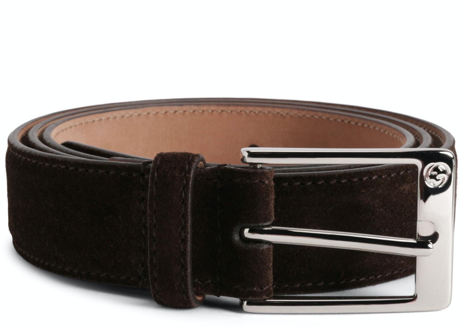 Gucci Belt Suede Brown