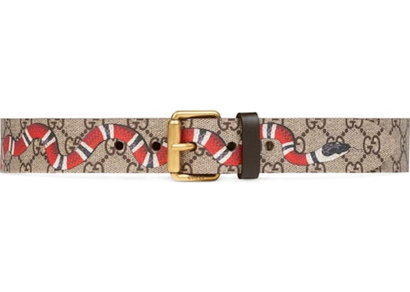 86a6a885949 Gucci Belt Supreme Kingsnake Brown. Supreme Kingsnake Brown