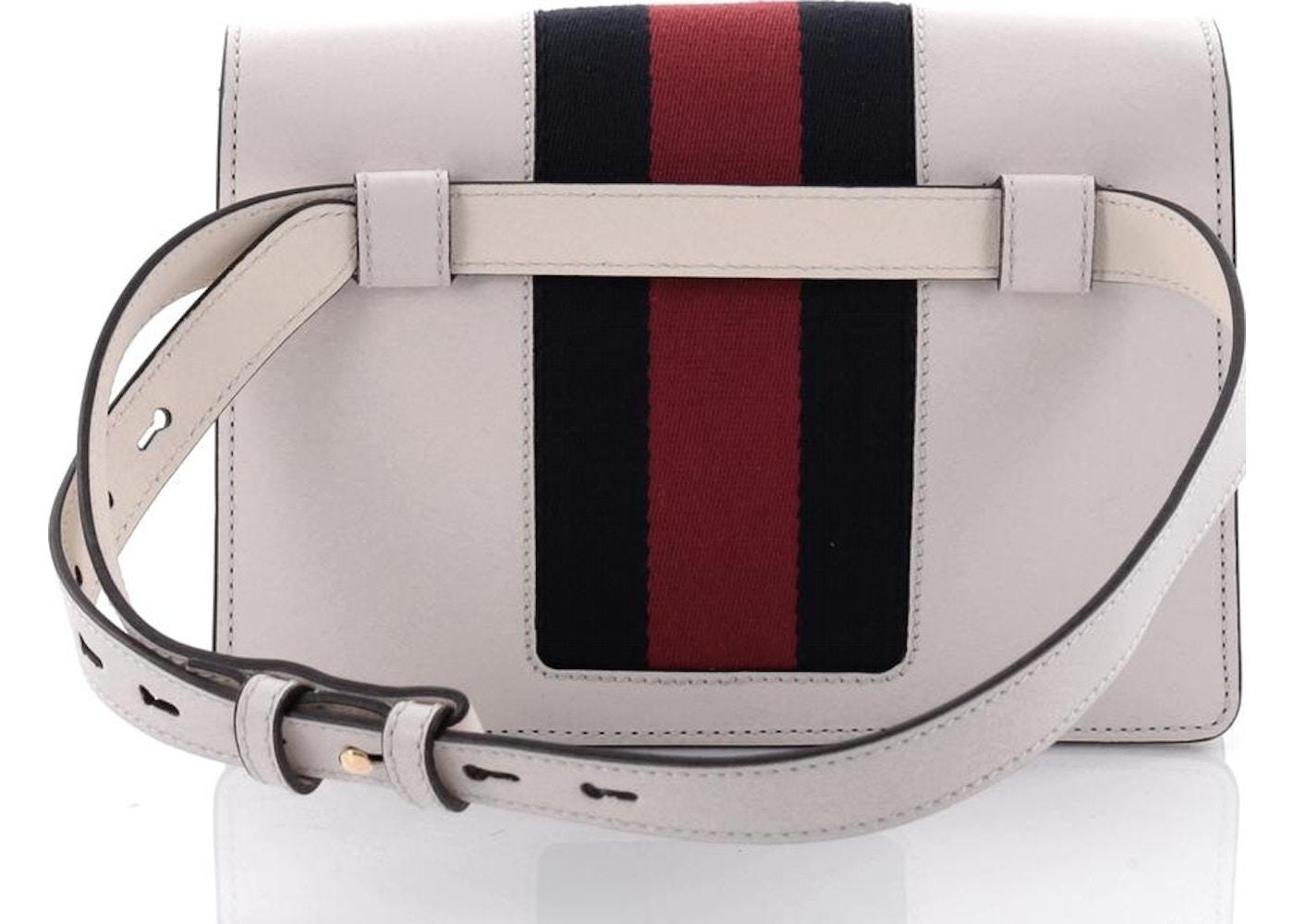 f020e70ca3da6e Gucci Sylvie Belt Bag Web White/Blue/Red