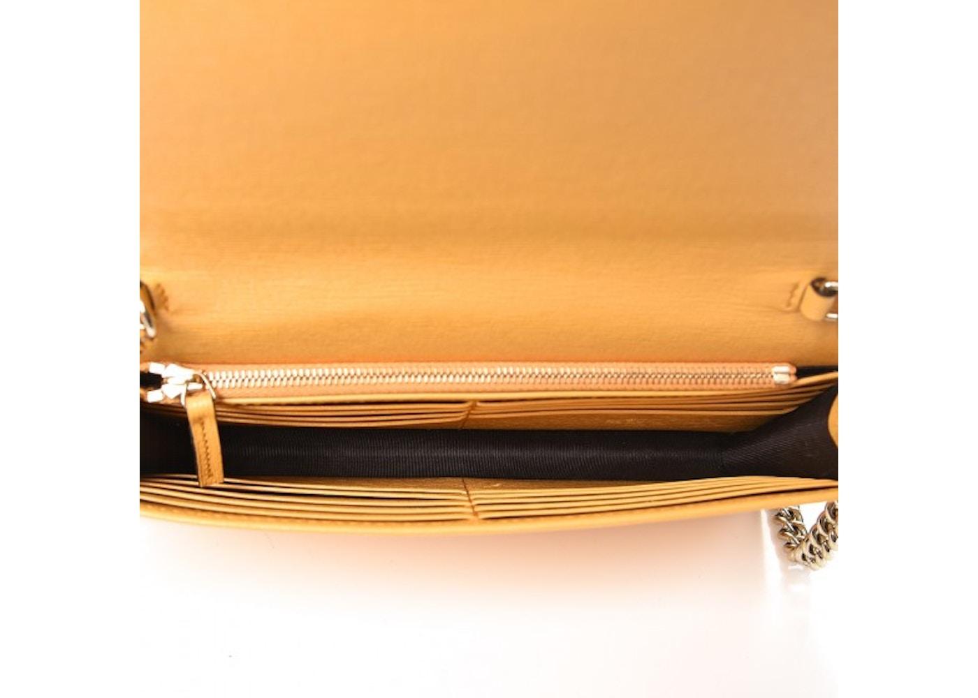 ae5f137d5af4 Gucci Betty Chain Wallet Interlocking GG Medium Yellow