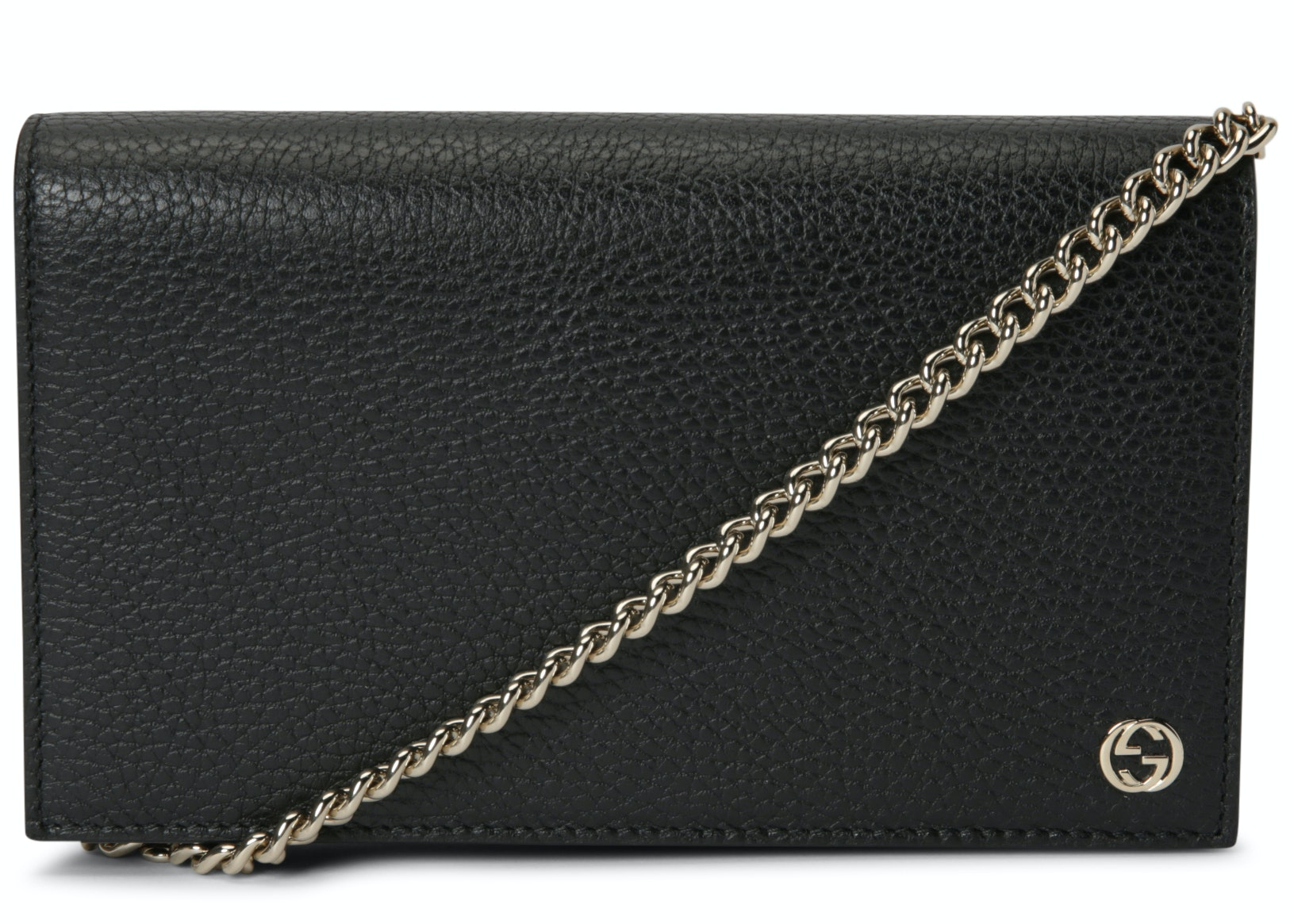 Gucci Chain Wallet Betty GG Medium Black