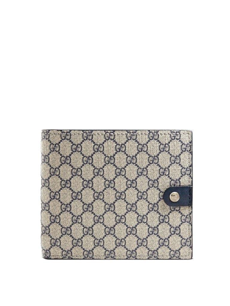 Gucci Bifold Wallet GG Supreme Blue/Beige