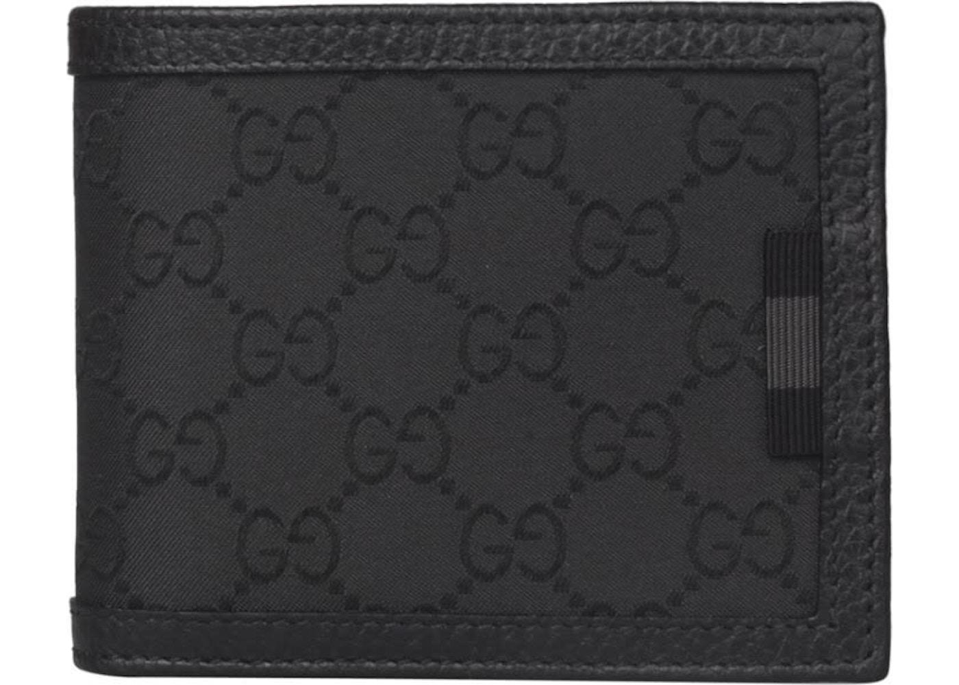 e8bc07be682f Gucci Bifold Wallet GG Supreme Canvas Black