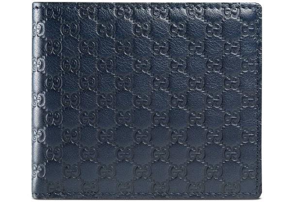 Gucci Bifold Wallet MicroGuccissima Blue