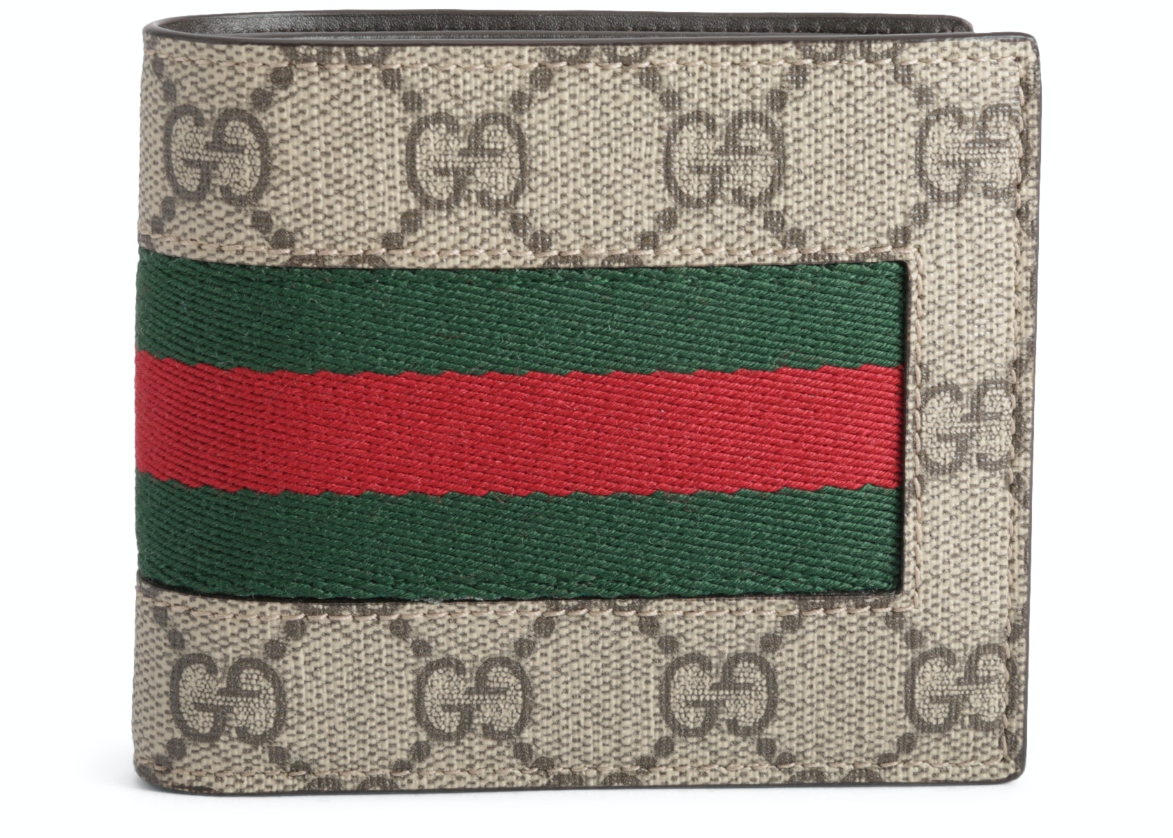 Gucci Bifold Wallet Monogram GG Supreme Web Brown