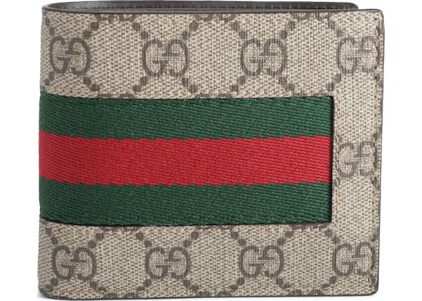 fdd4e51f02b13b Gucci Bifold Wallet GG Supreme Web Brown