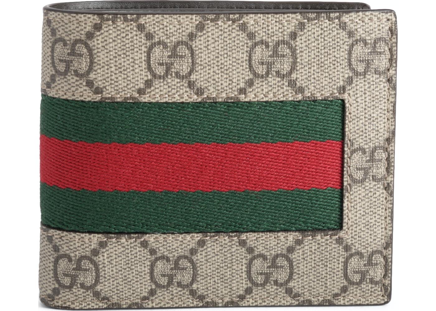 88c084eb62f Gucci Bifold Wallet GG Supreme Web Brown. GG Supreme Web Brown