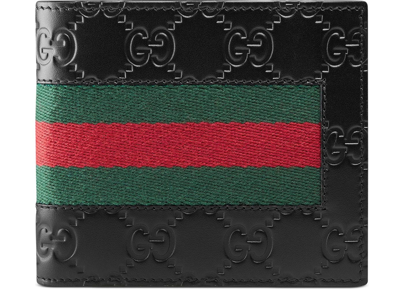 3d6425c1f622 Gucci Bifold Wallet Signature Web (8 Card Slots) Black